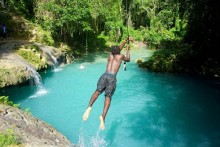 Private Transportation to Blue Hole (Secret Falls) & Bamboo Rafting From Falmouth Hotels