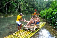 Private Transportation to Great River Bamboo Rafting From Secrets Hotels